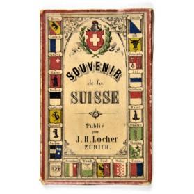 SOUVENIR de la SUISSE.- Zurich, J. H. Locher, circa 1850. leporello