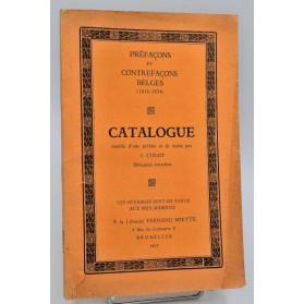 CATALOGUE J. Culot : Préfaçons et Contrefaçons BELGES (1816-1854).