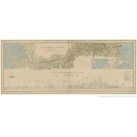 Grande Carte - PLAN de la REGION du CANAL DE PANAMA - Juillet 1886