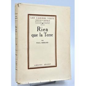 Paul Morand : RIEN QUE LA TERRE - Cahiers Verts 1926, numéroté & réimposé (1/17)