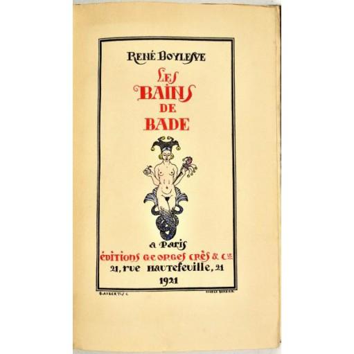 René Boylesve : LES BAINS DE BADE - Ill. de George Barbier colorées -1921