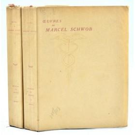 OEUVRES de MARCEL SCHWOB - 2 volumes 1921