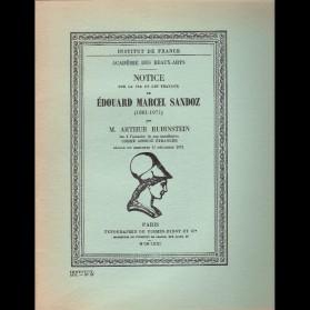 Notice sur la vie et les travaux de Edouard Marcel Sandoz