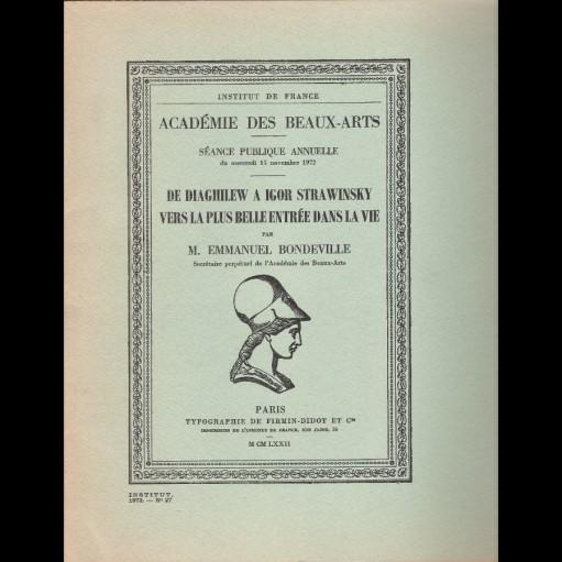 De Diaghilew à Igor Stravinsky vers la plus belle entrée de la vie