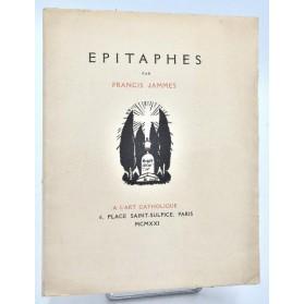 Francis Jammes : EPITAPHES. Gravures Robert Bonfils. 1921