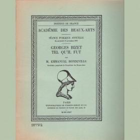 Georges Bizet tel qu'il fut
