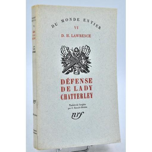 D. H. Lawrence : DEFENSE DE LADY CHATTERLEY. 1932, E.O.