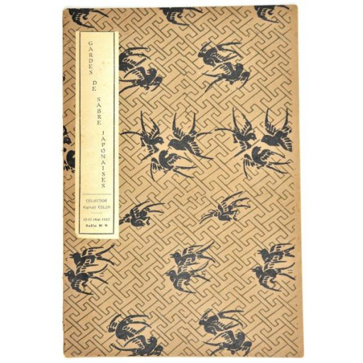 Catalogue - GARDES DE SABRE JAPONAISES. Collection Raphaël Collin 1922