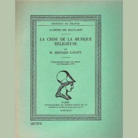 La crise de la musique religieuse