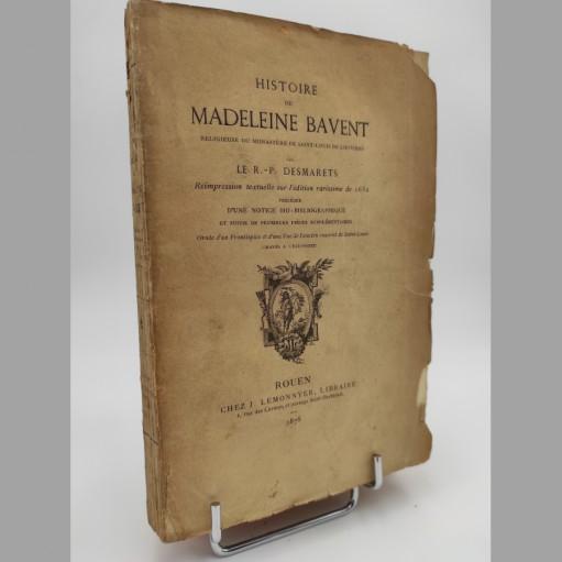 R.-P. Desmarets Histoire de Madeleine Bavent, religieuse du monastère de Saint-Louis de Louviers 1878
