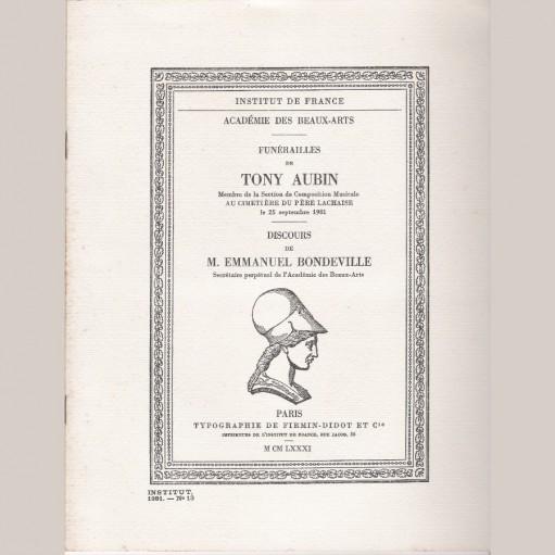 Funérailles de Tony Aubin