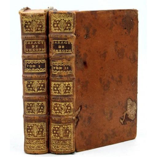 La Bruyère : LES CARACTERES DE THEOPHRASTE... Notes par M. Coste. 1740