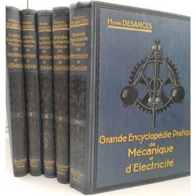 Henri Desarces, Grande encyclopédie pratique de mécanique et d'électricité, E.O. 1913, 4 volumes + l'atlas