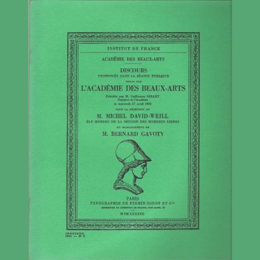 Réception de M. Michel David-Weill
