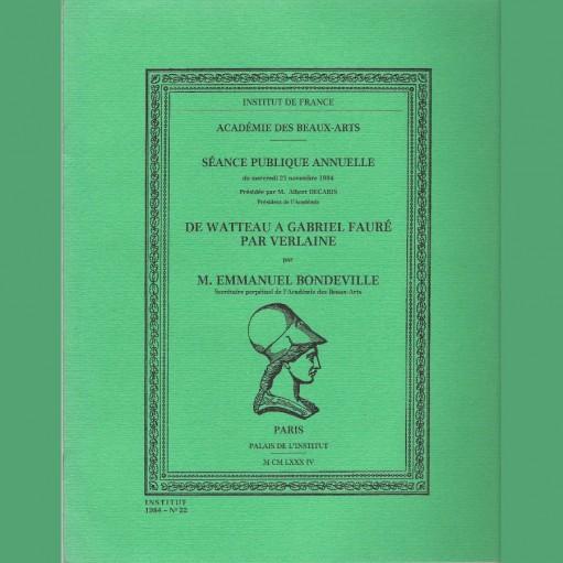 De Watteau à Gabriel Fauré par Verlaine