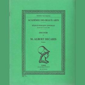 Discours de M. Abert Decaris