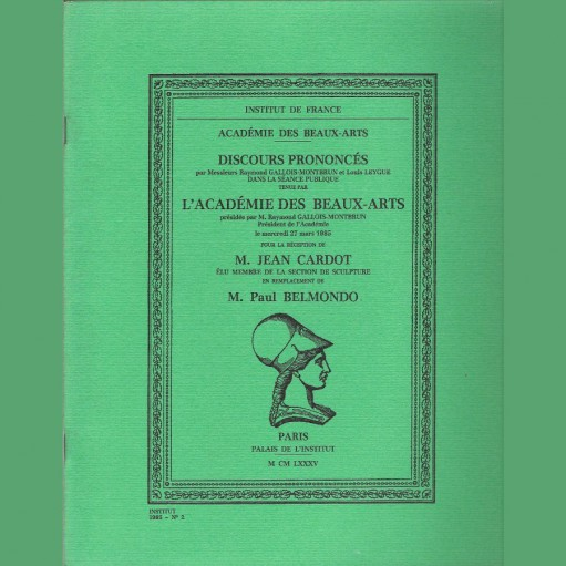 Réception de M. Jean Cardot en remplacement de M. Paul Belmondo