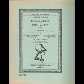 Hommage solennel à Paul Valéry 1871-1971