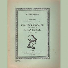Discours prononcé par M. Jean Bernard