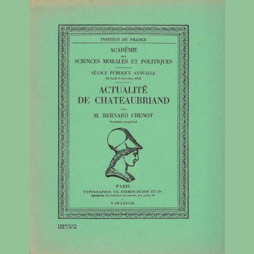 Actualité de Chateaubriand