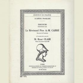 Discours prononcé à l'occasion de la mort de René Clair