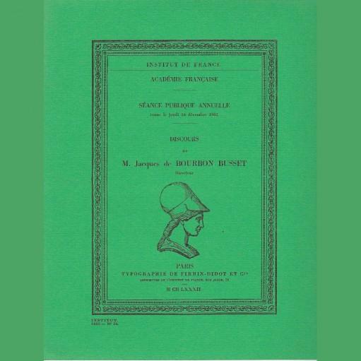 Discours de M. Jacques Bourbon Busset