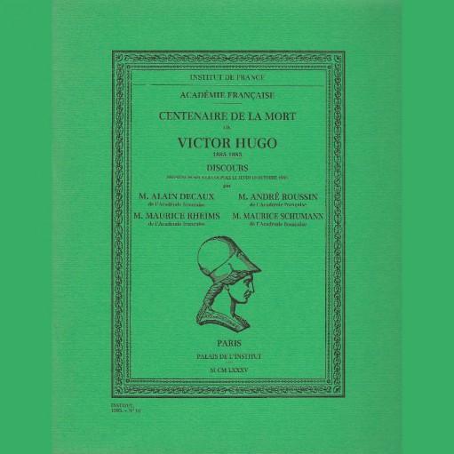 Centenaire de la mort de Victor Hugo