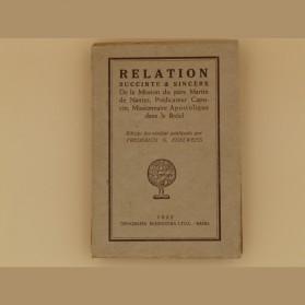 Relation succinte & sincère de la mission du père Martin de Nantes, dans le Brésil parmi les indiens appelés Cariris.