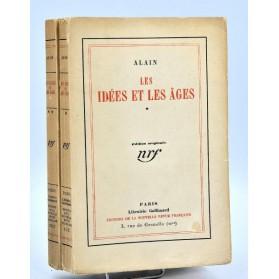Alain : LES IDEES ET LES AGES - 1927. Edition originale num., envoi à René Lalou