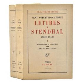 Cent soixante quatorze LETTRES A STENDHAL (1810-1842). Editions du Divan 1947