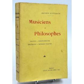 Maurice Kufferath : MUSICIENS et PHILOSOPHES -1899. Nietzche, Wagner, Tolstoï, Schopenhauer.