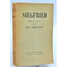 Jean Giraudoux : SIEGFRIED, pièce en 4 actes. 1928