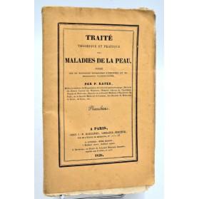 Pierre Rayer : TRAITE DES MALADIES DE LA PEAU. 1826. Atlas