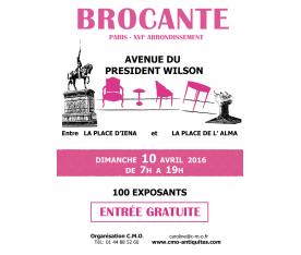 Brocante Avenue du Président Wilson Paris Avril 2016